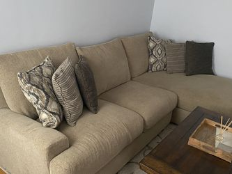 Levin Furniture Sectional Couch - Over Sized Chair And Storage Ottoman for Sale in Pittsburgh,  PA