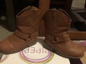 SIZE 10C Girls Light Brown Boots for Sale in New Cumberland, PA