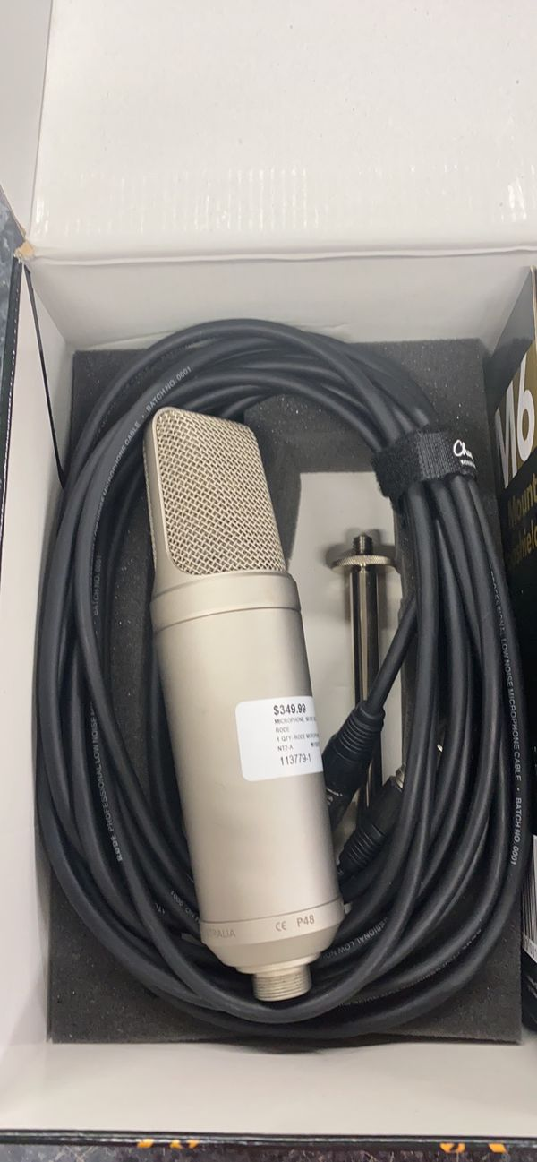 RODE NT2-A STUDIO MIC SETUP WITH SHOCKMOUNT AND XLR CABLE
