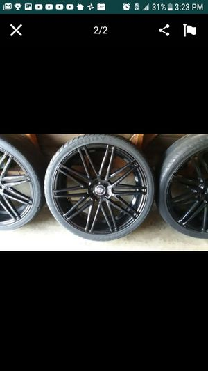 MUST SELL TODAY...! Curva concept black gloss rims 22' 5 lug for Sale in Jurupa Valley, CA