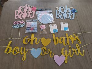 Gender reveal decor for Sale in Moreno Valley, CA