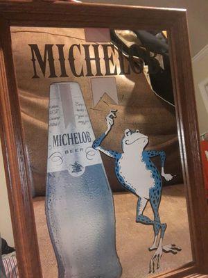 Vintage beer bar mirror for Sale in Greenville, SC