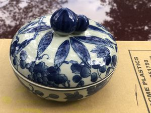 Blue and white Asian Trinket Box for Sale in Darien, IL