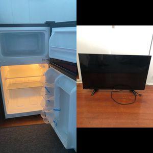 New mini fridge/ freezer and 32 inch LED Tv. for Sale in Hilo, HI