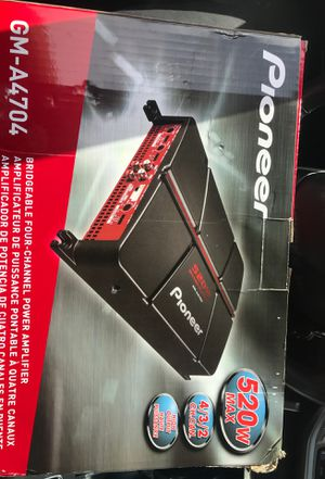 Pioneer 520w MAC 4/3/2 Ch. Can. Amp for Sale in Gahanna, OH