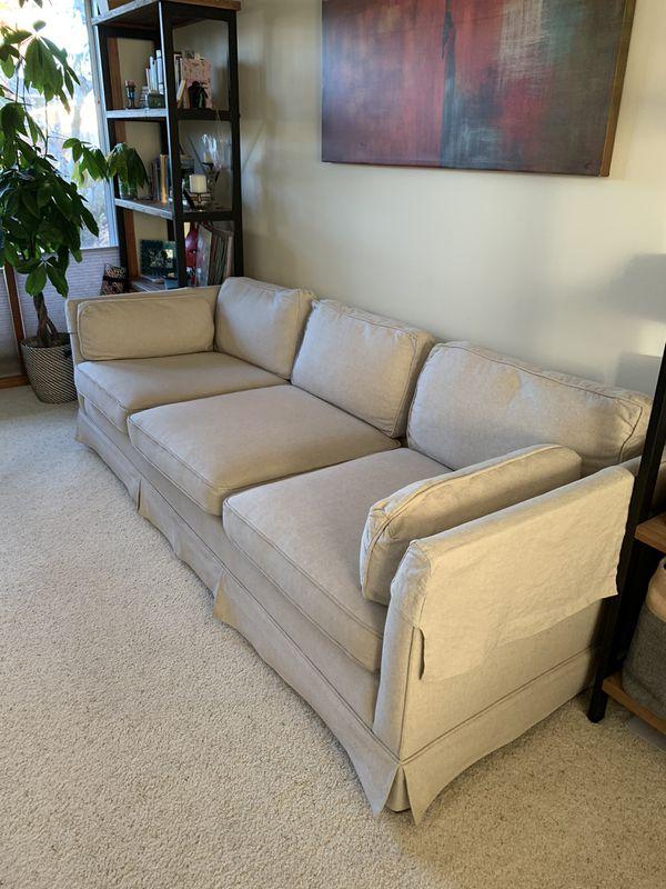 Beige West Elm 3-seat Sofa