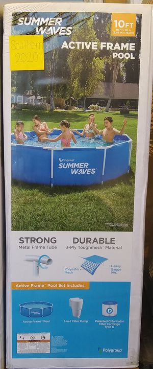 "New Summer Waves 10' x 30"" Metal Frame Swimming Pool for Sale in San Diego, CA"
