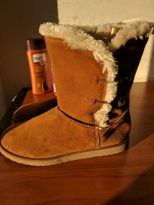 Brown fur boots for Sale in Fairfax, VA