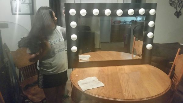 Vanity Mirror With Light Switch And Outlet 250 Custom