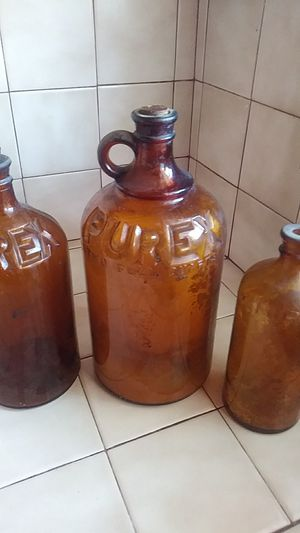 Amber glass PUREX. bottles (Antique) for Sale in San Diego, CA