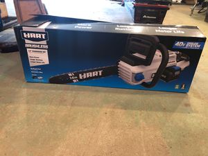 "Hart Brushless 14"" Chainsaw Kit 40v cordless system for Sale in Olympia, WA"