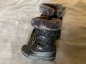 Kids Snow Boots US Size 1/EU 32 Black for Sale in Etiwanda, CA