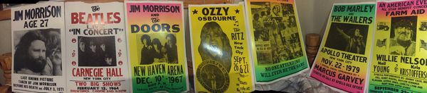 7 reprinted classic concert posters