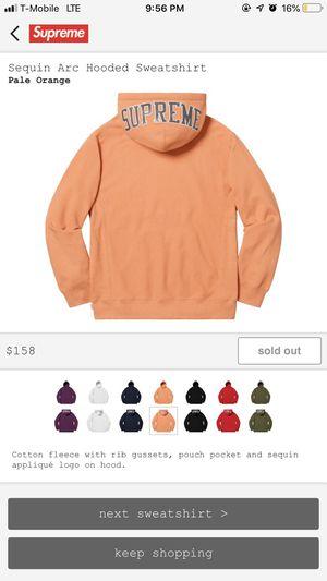 Supreme pale orange sequin arc hoodie for Sale in Franconia, VA