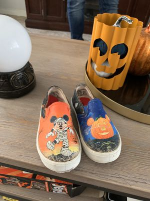 Used Disney handpainted Shoes size 9 $10 pick up glow in the dark for Sale in Huntington Park, CA