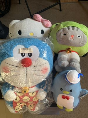 Hello kitty doraemon stuffed animals for Sale in Los Angeles, CA