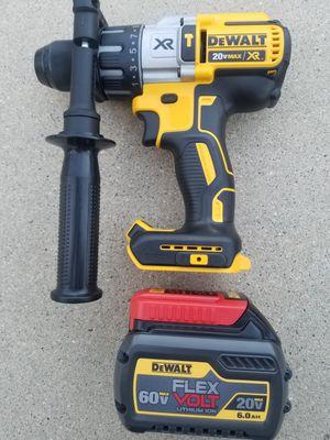 20 V DeWalt XR Brushless Hammer Drill and 60 V DeWalt battery Brand NEW (no Charger) for Sale in Bakersfield, CA
