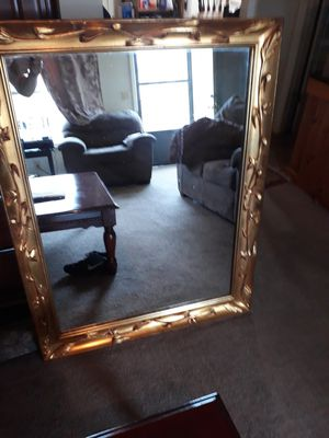 beautiful mirror wooden frame it is 48 by 36 for Sale in Smyrna, TN