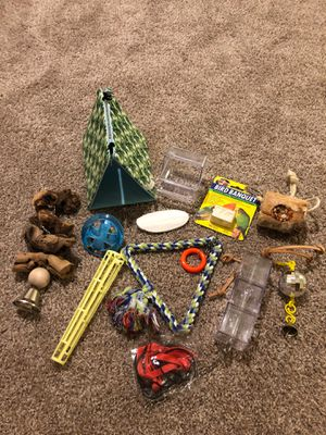 Bird stuff for parrots or conures - bed, treats, swing for Sale in Menifee, CA