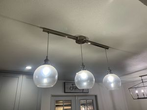 Kitchen Island light fixture-Brush Nickel for Sale in Santa Fe Springs, CA