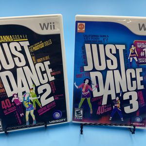 Wii Just Dance 2 & Just Dance 3 Video Game for Sale in Watsonville, CA