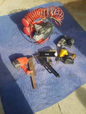 Nail guns N compressor for Sale in Compton, CA