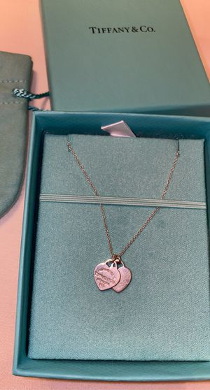 TIFFANY & CO. Mini Double Heart Tag Pendant for Sale in Houston, TX