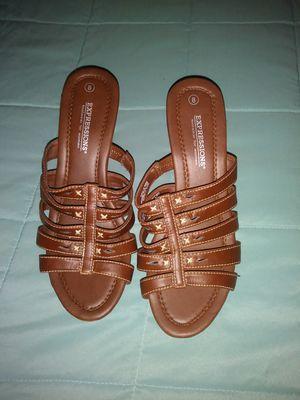 Brown open toe heels for Sale in Springfield, MA