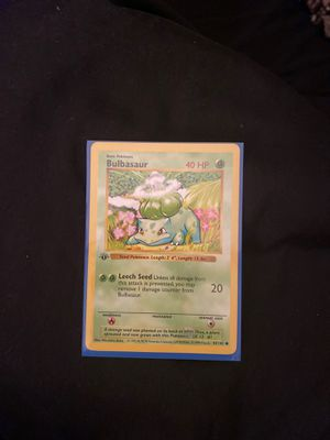 1995 Bulbasaur first edition length length error pokemon card for Sale in Nashville, TN
