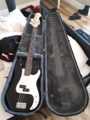 Squier precision bass guitar & case for Sale in Phoenix, AZ