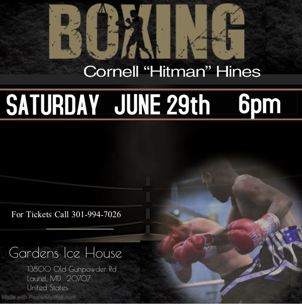 Support my brother and local dmv boxers