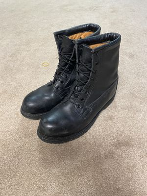 Steal toe black leather cold weather boots (9 1/2R) for Sale in Marietta, GA