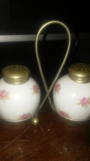Vintage salt and pepper shakers with holder for Sale in Brick Township, NJ