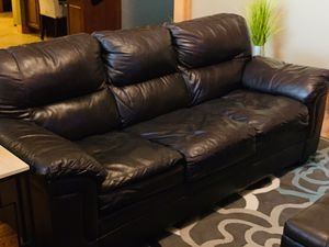 Sofa Bed Brown Leather like new. for Sale in Grand Island, NE