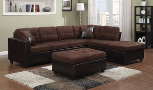 New Mallory brown or beige sectional sofa couch for Sale in Miami, FL