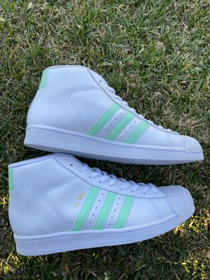 Adidas Pro Model White Green Gold Metallic Mens Size 10.5 and 8.5 $50 for Sale in Garden Grove, CA