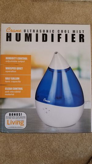 Humidifier 15 Hour Run Time, Filter Free, Crane Ultrasonic Cool Mist Humidifier for Sale in Irvine, CA