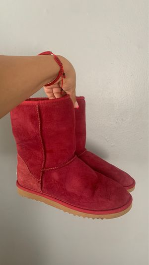 Red ugg boots for Sale in Santa Ana, CA