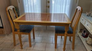 "Kitchen table with 2 chairs 44""W x 28.5""D EUC for Sale in Berkeley Township, NJ"