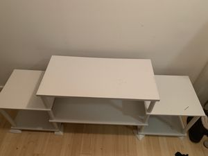 White wooden tv stand for Sale in Washington, DC