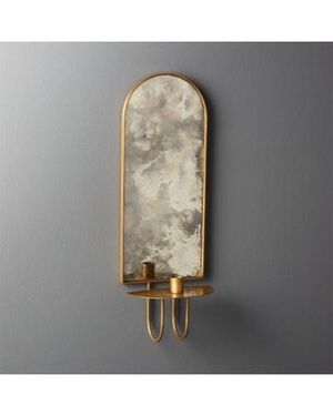 CB2 - Edin Antiqued Mirror Taper Candle Wall Sconce (2 available) for Sale in Los Angeles, CA