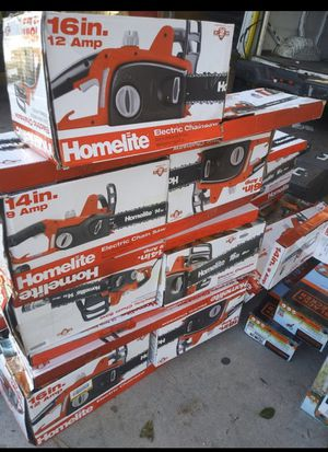 "HOMELITE 14"" / 16"" NEW AND USED ELECTRIC CHAINSAW for Sale in San Bernardino, CA"