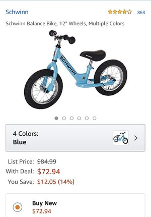 "Schwinn Balance Bike, 12"" Wheels,m for Sale in Orlando, FL"