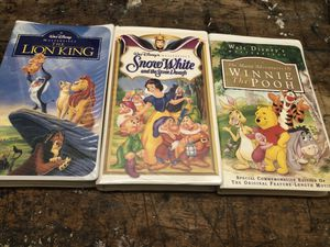 3 Disney Masterpiece VHS tapes for Sale in Nashville, TN