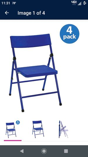 Blue Kids Folding Chairs (4 pack) for Sale in Virginia Beach, VA