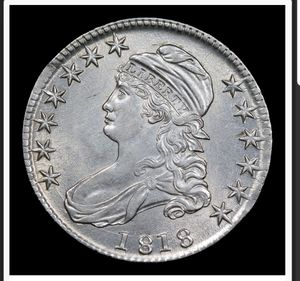 1818 *Auction Highlight*** 1818 Capped Bust Half Dollar 50c Graded Select+ Unc By USCG (fc) for Sale in Boca Raton, FL
