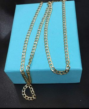 10k Solid gold chain cuban link for Sale in Westmont, IL