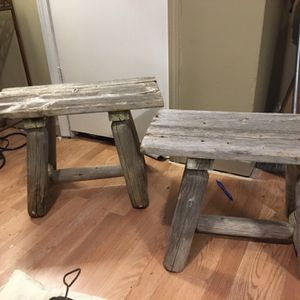 2 Antique Reclaimed Wood Benches for Sale in Winder, GA