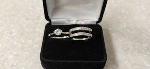 New with tag Solid 925 Sterling Silver ENGAGEMENT WEDDING Ring Set size 5 or 9 $150 set OR BEST OFFER ** WE SHIP!!📦📫** for Sale in Phoenix, AZ