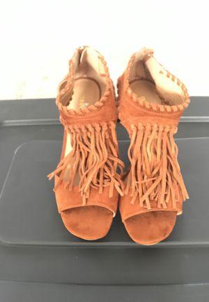 Madden Girl Tan Suede Fringe Sandal - Size 10 for Sale in Scottsdale, AZ